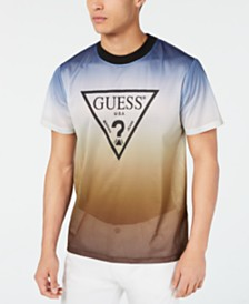 GUESS Men's Twilight Fade Mesh Logo T-Shirt