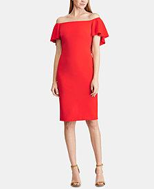Lauren Ralph Lauren Crepe Off-The-Shoulder Dress