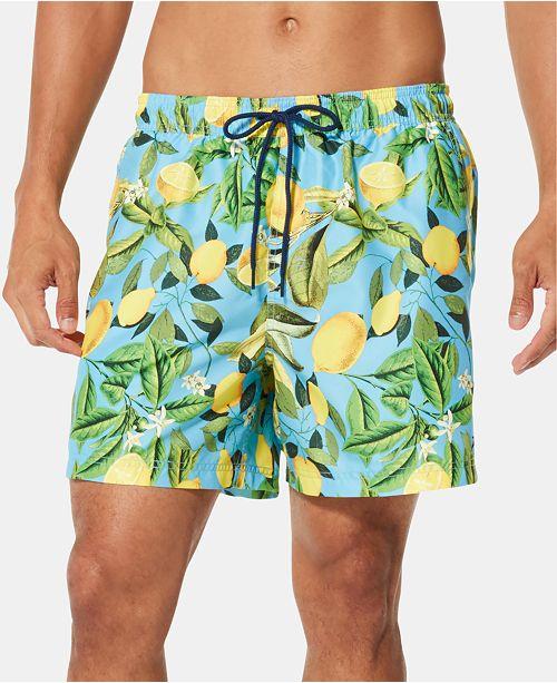 """Speedo Men's Summer Yield TurboDri 5"""" Lime-Print Swim Trunks"""