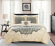 Mindy 8 Piece Queen Bed In a Bag Duvet Set