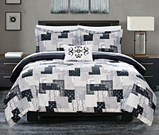 Chic Home Utopia 8 Piece Queen Bed In a Bag Duvet Set