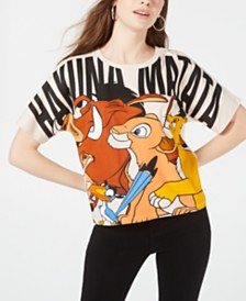 Disney Juniors' Lion King Cropped Graphic T-Shirt by Freeze 24-7