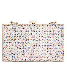 I.N.C. Arielle Rainbow Sparkle Box Clutch, Created for Macy's