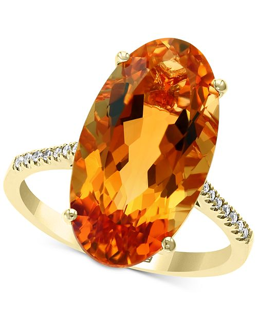 EFFY Collection EFFY® Citrine (8-1/2 ct. t.w.) & Diamond Accent Statement Ring in 14k Gold