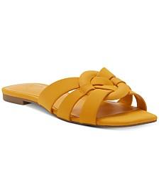 I.N.C. Gargi Knot-Front Woven Slide Sandals, Created For Macy's