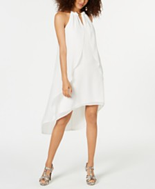 Thalia Sodi High-Low Chiffon Cascade Dress, Created for Macy's