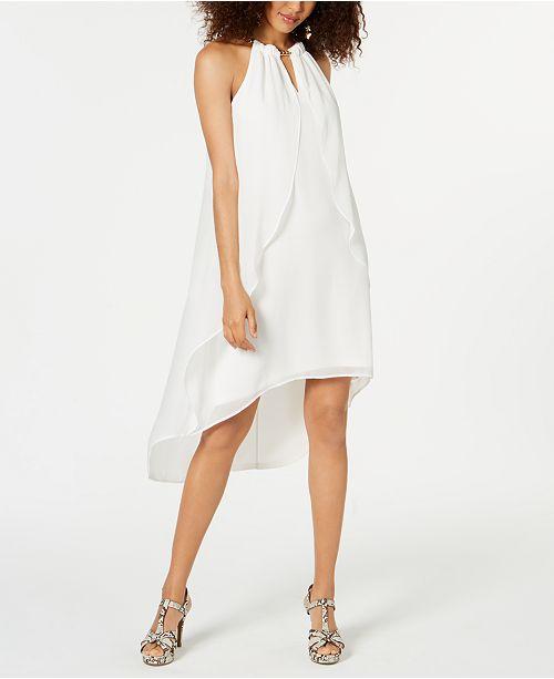 Thalia Sodi High-Low Chiffon Cascade Dress, Created for Macy's