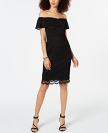 Thalia Sodi Off-The-Shoulder Lace Dress, Created for Macy's