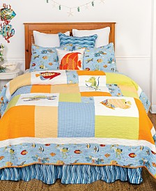Sea Life Twin 2 Piece Quilt Set