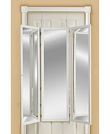 Over The Door Wall Mounted Triple View 3 Way Dressing Mirror