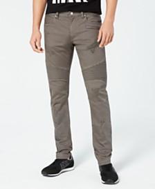 A|X Armani Exchange Men's Slim-Fit Stretch Destroyed Moto Jeans