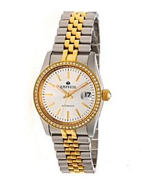 Constance Automatic, Gold Case, White Dial, Silver Stainless Steel Watch 37mm