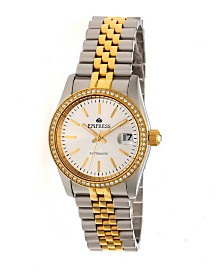 Empress Constance Automatic, Gold Case, White Dial, Silver Stainless Steel Watch 37mm