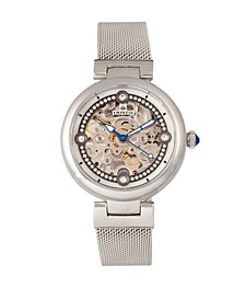 Adelaide Automatic Silver Stainless Steel Watch 38mm