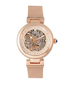 Adelaide Automatic Rose Gold Stainless Steel Watch 38mm