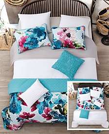 Jasper 6 Pc Twin Layered Comforter and Coverlet Set