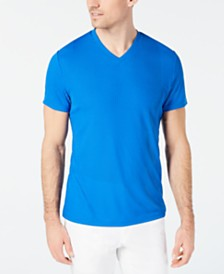I.N.C. Men's V-Neck Textured Stripe T-Shirt, Created for Macy's