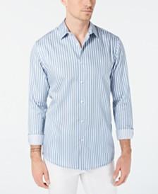 I.N.C. Men's Vertical Striped Shirt, Created for Macy's