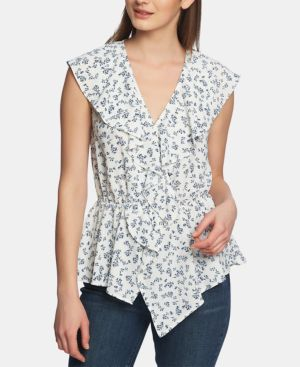 Image of 1.state Afternoon Bouquet Ruffled Flounce Top