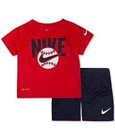 Nike Baby Boys 2-Pc. Baseball Graphic T-Shirt & Shorts Set
