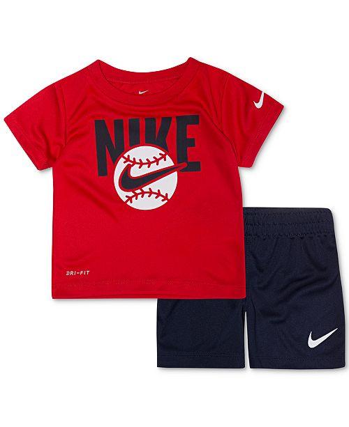 49a64184071c ... Shorts Set; Nike Baby Boys 2-Pc. Baseball Graphic T-Shirt & Shorts ...