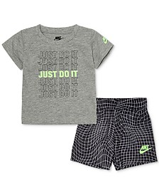 Nike Baby Boys 2-Pc. Just Do It Logo T-Shirt & Shorts Set