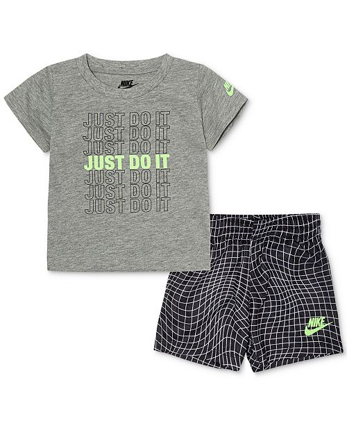 de000eab Nike Baby Boys 2-Pc. Just Do It Logo T-Shirt & Shorts Set & Reviews ...