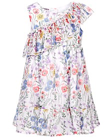 Blueberi Boulevard Little Girls Floral-Print Ruffle Dress