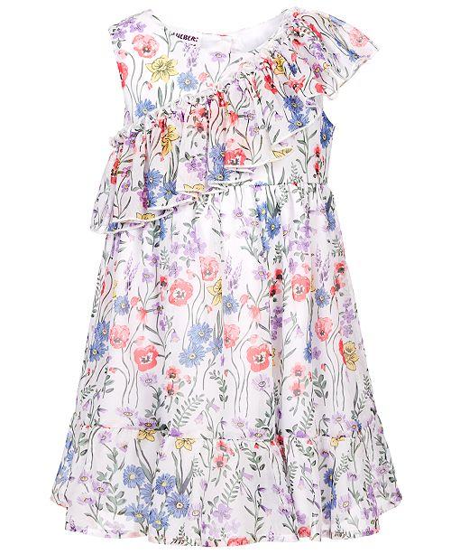 Blueberi Boulevard Little Girls Floral-Print Ruffle Dress