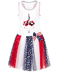 Bonnie Jean Toddler Girls Unicorn Star-Print Tutu Dress