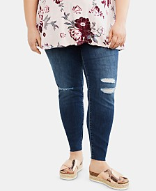 Jessica Simpson Maternity Plus Size Distressed Skinny Jeans
