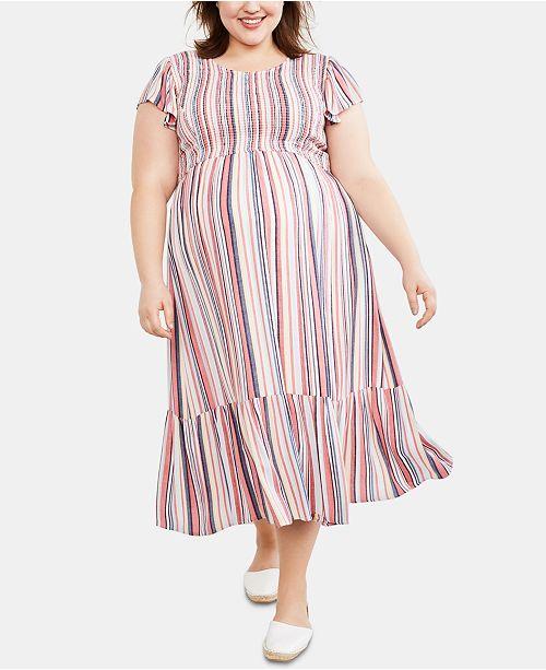 Motherhood Maternity Plus Size Ruffled Dress