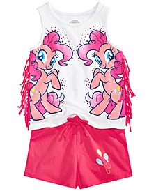 My Little Pony Toddler Girls 2-Pc. Fringe Tank Top & Shorts Set