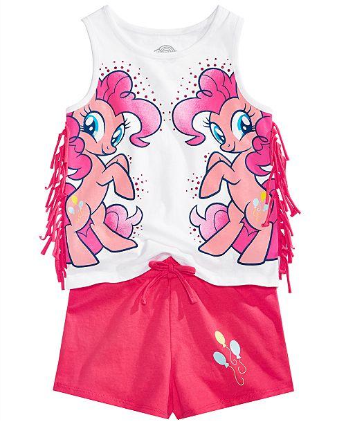Disney My Little Pony Toddler Girls 2-Pc. Fringe Tank Top & Shorts Set