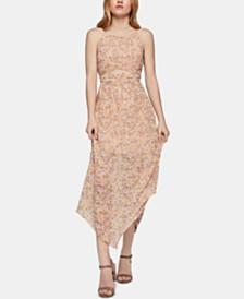 BCBGeneration Floral-Print Midi Dress
