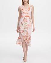 797fe229719 Calvin Klein Floral-Print A-Line Dress