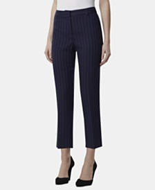 Tahari ASL Striped Ankle Pants