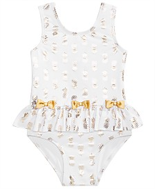 Solo Toddler Girls Glitzy Pineapple Swimsuit