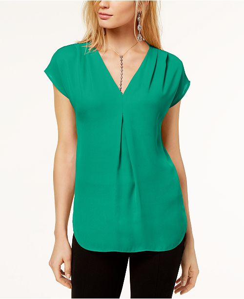2f293c4f590 ... INC International Concepts I.N.C. Inverted-Pleat V-Neck Top, Created  for Macy's ...