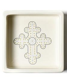 by Laura Johnson Cobble Neutral Cross Trinket Bowl
