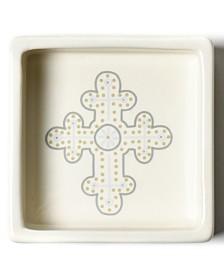 Coton Colors Cobble Neutral Cross Trinket Bowl