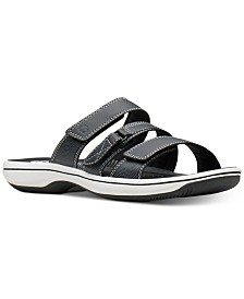 Clarks Women's Cloudsteppers Brinkley Coast Slide Sandals