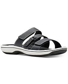 Clarks Women's Cloudsteppers Brinkley Coast Slide Sandals