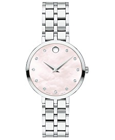 Movado Women's Swiss Kora Stainless Steel Bracelet Watch 28mm