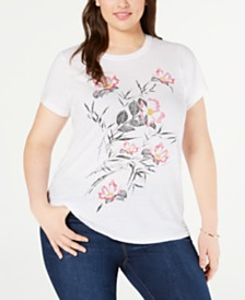 Lucky Brand Plus Size Bouquet T-Shirt