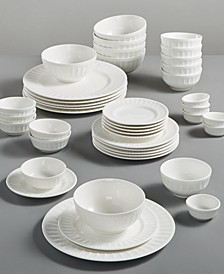 White Elements Paloma Embossed 42-Piece Set, Service for 6, Created for Macy's