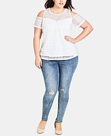 Trendy Plus Size Asha Ripped Skinny Jeans
