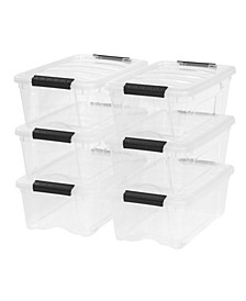 Iris 12 Quart Stack and Pull Box, 6 Pack
