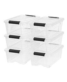 Iris 12 Quart Stack and Pull Box, 6 Pack