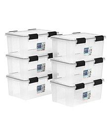 Iris 19 Quart Weather tight Storage Box, 6 Pack